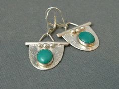 Sterling Silver Handmade Turquoise Drop by stoneandsterling, $75.00