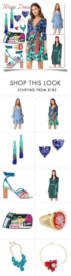"""""""Wrap Dress..**"""" by yagna ❤ liked on Polyvore featuring Finders Keepers, Diane Von Furstenberg, Oscar de la Renta, Holly Dyment, Sophia Webster, Marc Jacobs, Jacquie Aiche, Kendra Scott, Marni and vintage"""