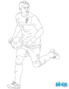 soccer coloring pages neymar skills - photo#7