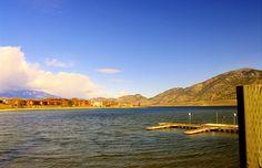 "Osoyoos Lake looking north from the ""Narrows"""