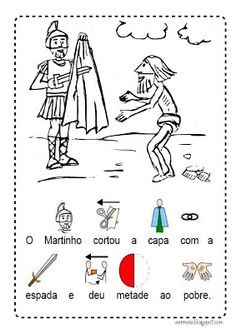 Ser Mais!: S. Martinho Jesus Is Life, Autumn Crafts, Diy And Crafts, Education, Advent, Saints, Autumn Activities, Kids Activity Ideas, Educational Activities