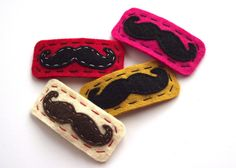 Moustache Hair Clip, via Etsy.