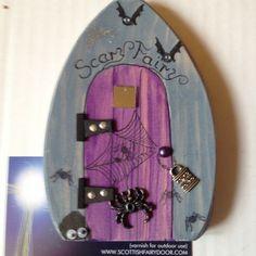 scary fairy door, halloween decor, alternative fairy, handmade halloween decoration, magical doorway, unique imaginative play,…