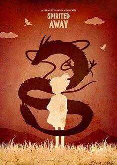Vintage Hayao Miyazaki Minimalist Poster Set, My Neighbor Totoro, Howl's Moving Castle, Princess Mononoke, Spirited Away Spirited Away Poster, Miyazaki Spirited Away, Studio Ghibli Art, Studio Ghibli Movies, Hayao Miyazaki, Totoro Merchandise, Studios, Girls Anime, Illustration