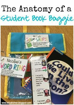 The anatomy of a book baggie for first grade independent reading.