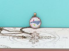 North Carolina Home State Pendant Necklace by MoonlightMakers
