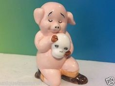 PIGGIES DANBURY MINT PIG FIGURINE LIMITED PORCELAIN 25 MADE HAMLET HAM-LET SKULL