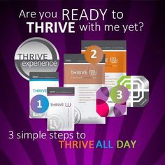 Ready Thrive?? 1/2 off for New Customers! www.txthrive.com