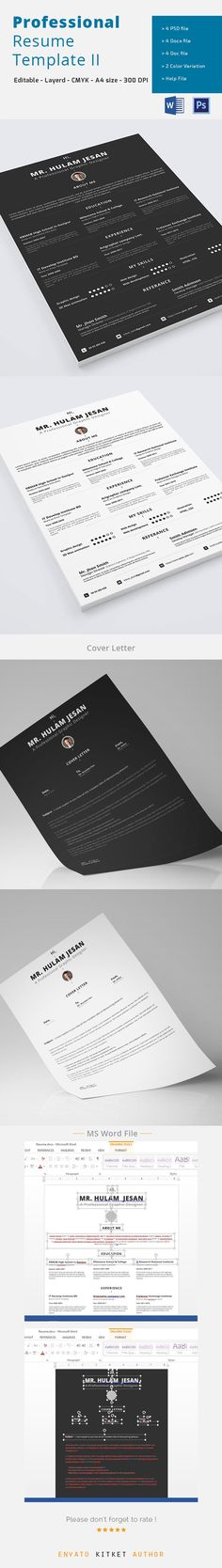 Resume Resume words, Cv template and Professional resume template - professional resume word template
