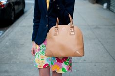 Flowered Skirts, Navy Blazers and Bright Tops: A Night Out on the Upper East Side - Kelly in the City