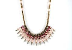 Safety Pins Necklace Egyptian Style by elegantjewelrybyyaya, $85.00