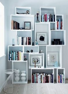 Bookshelves Decorating Ideas for Living Room_34