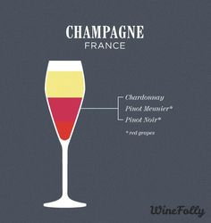 Champagne--A high acidity sparkling wine with notes of lemon, almond, honeycomb and apple. Bordeaux Wine Region, Red Blend Wine, Red Wine, Wine Paring, Malta, Whisky, Champagne France, Wine Folly, Chateauneuf Du Pape