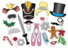Nutcracker Photo Booth Props Party Set  20 Piece by TheQuirkyQuail