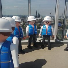 TÜV Rheinland Playmos on Triangle in #Cologne! Great view on the whole city and the #KölnerDom. #TÜVRheinland #Sightseeing #Playmobil