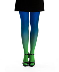 Ombre tights green-blue - virivee  #ombre #tights #green #blue #fashion