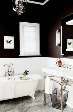 30 Best Black Tile Bathrooms Images Decorating Bathrooms Toilet - Black-and-white-bathroom-york-by-novabell