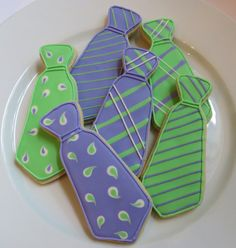 Neck Tie decorated cookies