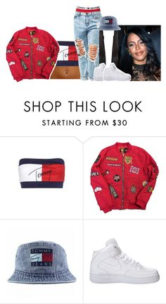 """Aaliyah inspired outfit"" by princess-sinia ❤ liked on Polyvore featuring Tommy Hilfiger and NIKE"