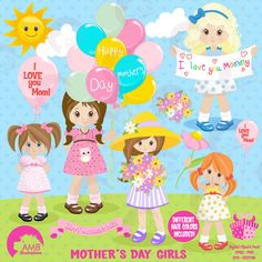Mothers day Clipart Mothers Day kids Mom clipart kids