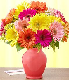 My favorite flower. I LOVE the bright, cheerful colors of Gerbera Daisies. Orange being my favorite of course :)