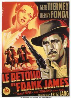 HENRY FONDA - GENE TIERNEY - LE RETOUR DE FRANK JAMES - (FRITZ LANG 1940)
