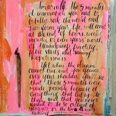 counting on it. today's #tut, note from the universe in my #artjournal | Flickr: Intercambio de fotos