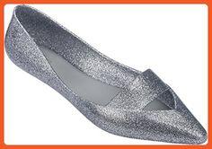 3fffa5e2e548e Melissa Womens Maisie Flat Shoe Silver Glass Glitter Size 9 - Flats for  women (*