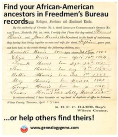 Do you need this resource to find your African-American ancestors? Or could you contribute to efforts to help others find theirs?