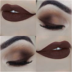 Maquiagem Marrom Opaca com Batom Anastasia de Delineado