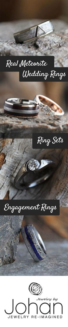 Real Meteorite Wedding Jewelry that is out of this world!