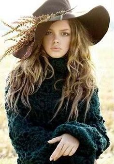 This is my feathered boho hat I wear in the fall & winter..............