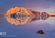 IcesLand - Pinned by Mak Khalaf Landscapes alpinehillislandlakemountainpondreflectreflectedreflectionrockrocksrockyskysnowsunsetwatericesland by benchzowner