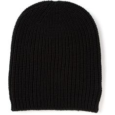 P.A.R.O.S.H. ribbed knit beanie ($79) ❤ liked on Polyvore featuring hats, beanies, accessories, black and p.a.r.o.s.h.