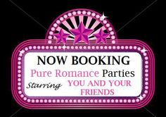 Earn a FREE shopping spree for hosting a FUN night with Pure Romance by Tina for you and your girlfriends. Trust me you won't regret it and your girlfriends surely won't forget it!! Call me today 817.658.0989
