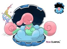 Mega Clamperl (Alternative evo) by LeafyHeart on deviantART