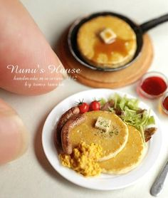 Nunu's House, miniatures, miniature food