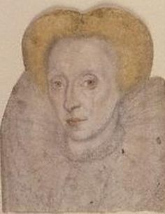 ELIZABETH I OF ENGLAND (1533–1603), last TUDOR monarch over England reigned 1558–1603 ~ A sketch of Elizabeth I
