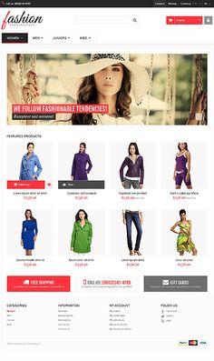 PrestaShop Template for Fashion Website Fashion Website Design, One Page Website, Fashion Themes, Something About You, Online Fashion Stores, Web Design Inspiration, Business Website, Autumn Fashion, Logo Design