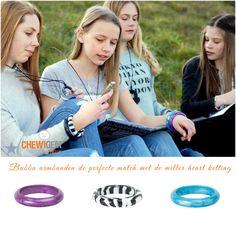 Meiden en de bubba armbanden! In diverse mooie tinten en patronen. Voor ieder zijn favoriet. www.chewigem.nl