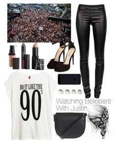 """""""Watching Beliebers With Justin"""" by justin94bieber ❤ liked on Polyvore featuring NARS Cosmetics, Justin Bieber, H&M, Topshop, Alexander Wang, Helmut Lang and Maison Margiela"""