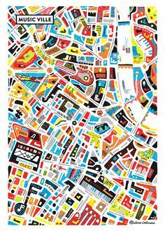Music Ville new ! - Antoine Corbineau • Illustration & Design