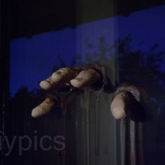 Creepy Halloween Fingers - fleshy finger tips to stick on your window as a Halloween prop. This is the lazy version made with playdough molds. It's quick. It's creepy. It's non-toxic. It's cheap.