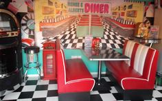 Glitzy: Ann Bates of St Helens transformed the end of her garden into an American-style diner
