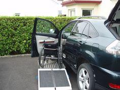 30x30inch Wheelchair Transfer Platform + 3ft Flat Panel Ramp