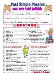 PRESENT SIMPLE PASSIVE | ileesi | Pinterest | English, Worksheets ...