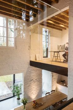 from coach house to house - interior .-vom Kutscherhaus zum Haus – Interieur – # from the coach house to the house – interior – # - Loft Interior Design, Loft Design, Interior Architecture, Interior And Exterior, Cultural Architecture, Interior Modern, Minimalist Interior, Loft House, Home Fashion