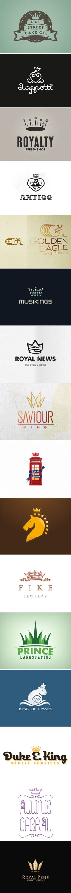 Crown Logos http://abduzeedo.com/logo-design-crowns - created via http://pinthemall.net