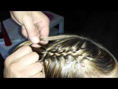 Braids tutorial ▶ Vijfstrengen Watervalvlecht. - YouTube