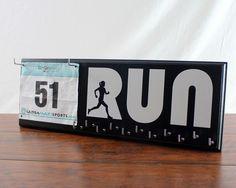 Run - Running Medal and Bib Holder - Run by StrutYourStuffSignCo on Etsy https://www.etsy.com/listing/238504290/run-running-medal-and-bib-holder-run